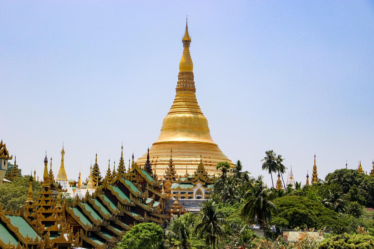 Yangon Sehenswürdigkeiten Shwedagon Pagode